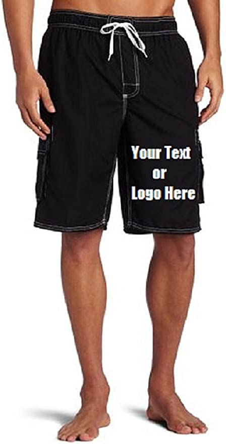 Customize Mens Swimsuit Quick Dry Mens Swimming Shorts Personalized Brief Swimsuit with Your Photo//Text