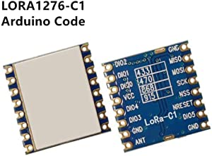 Compatible with RFM95W,LoRa 1276 Chip Module with Arduino 100mW Long Range Wireless Transceiver Module, 2 pcs, LORA1276-C1