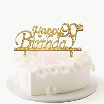 Image Unavailable Not Available For Color Happy 90th Birthday Cake Topper