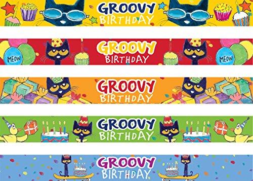 Pete The Cat Groovy Birthday Slap Bracelets -