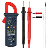 Micsoa デジタル クランプメーター 電気 テスター 電子マルチメータ 多機能 電圧 電流 抵抗 静電容量 導通 温度 検出器 測定