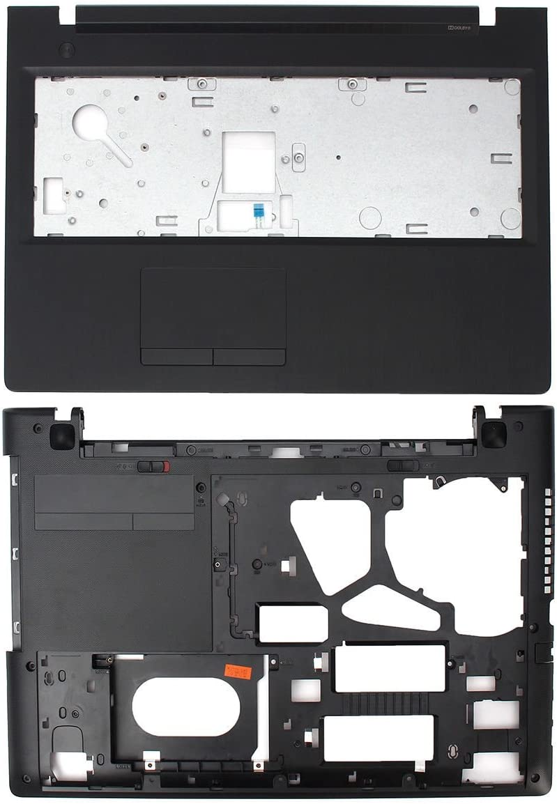Replacement for Lenovo G50 G50-70 G50-80 80E5 G50-45 80E3 G50-30 80G0 15.6 Inches Palmrest Upper Case Pack of Bottom Base Shell Lower Cover
