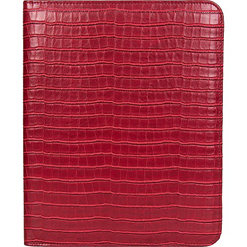 Kenneth Cole Reaction Classic Size Croco Embossed Pvc Writing Pad, Croco Embossed Red