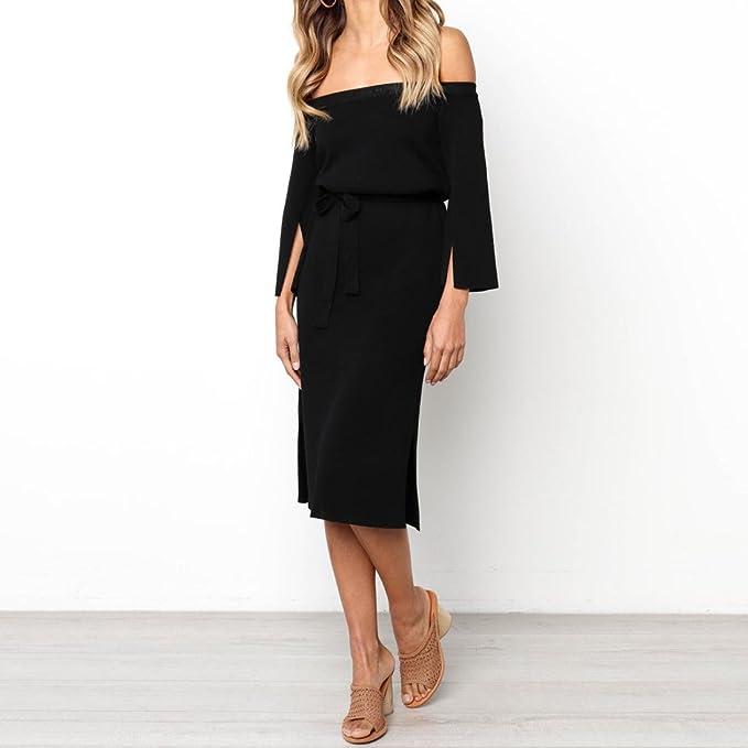 Vestido largo de mujer moda fashion fiesta noche 2018,Sonnena Vestido largo sin tirantes de la gasa de la impresión del punto del vestido de lunares Vestido ...