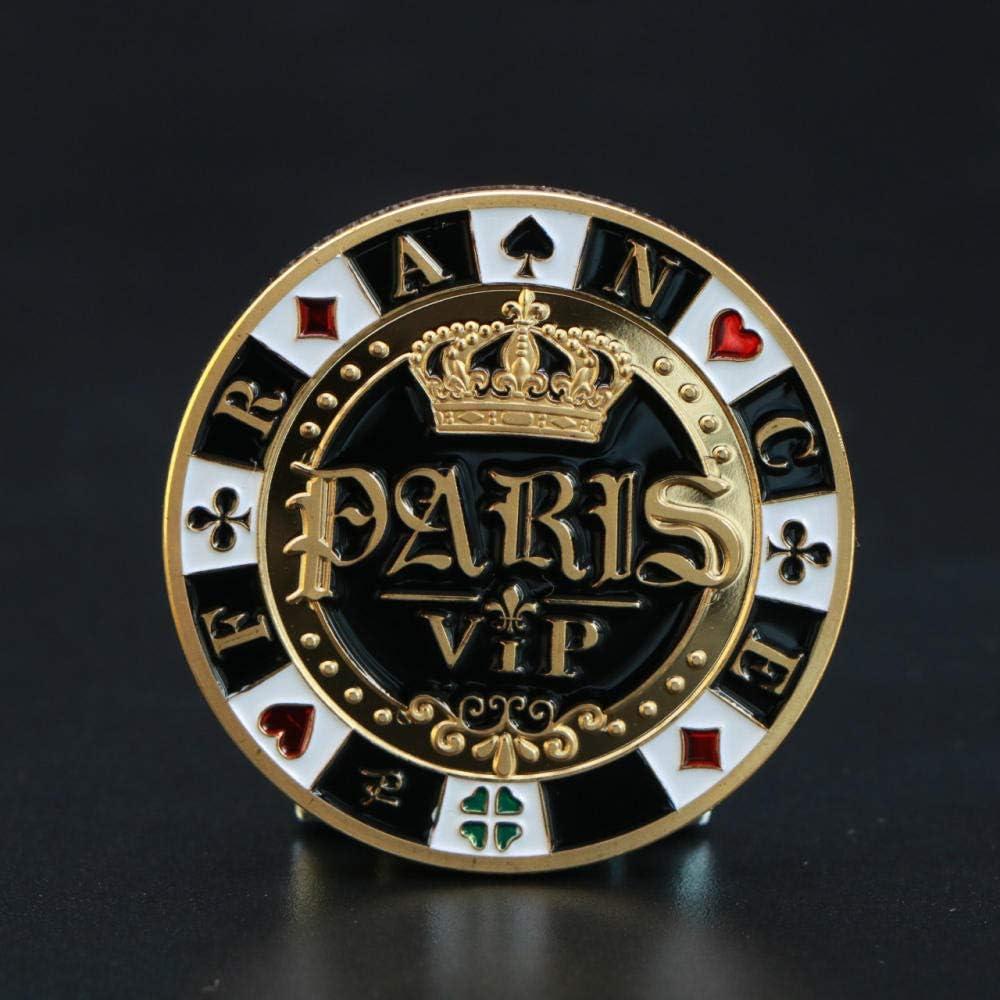 Chaenyu Collection de pi/èces de Monnaie en plaqu/é Or Amour Tour Eiffel d/écoration de Cadeau de pi/èce de Monnaie comm/émorative