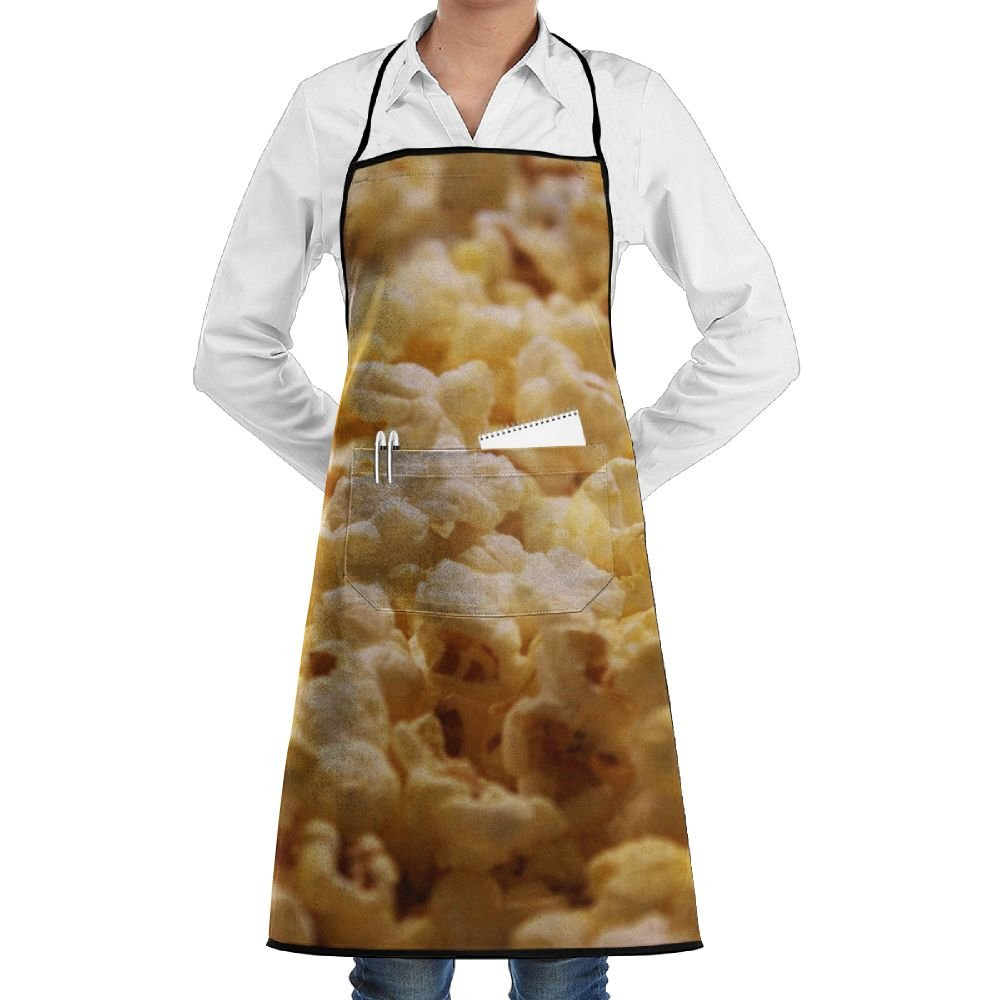 RZ GMSC Novelty Popcorn Kitchen Chef Apron With Big Pockets - Chef Apron For Cooking,Baking,Crafting,Gardening And BBQ