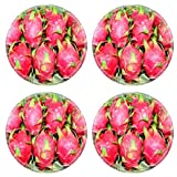 Liili Round Coasters IMAGE ID 14416745 Dragon fruit in Thailand market ready for sale