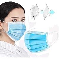 50pcs Face Masks Disposable 3 Layers Dustproof Mask Facial Protective Cover Masks Set Anti-Dust Surgical Medical Salon Earloop