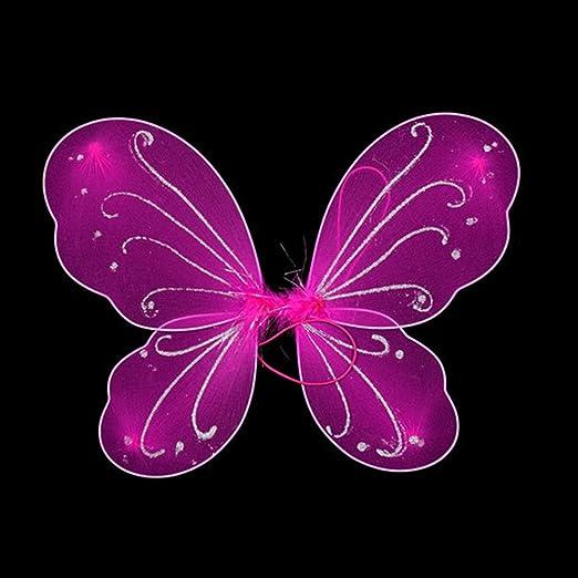 Disfraz de hada con alas de mariposa coloridas para niñas ...