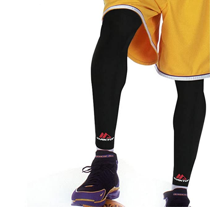 Amazon.com: Kneepad Pads Long Stretch Leggings Basketball Protective Sports (A pair): Sports & Outdoors