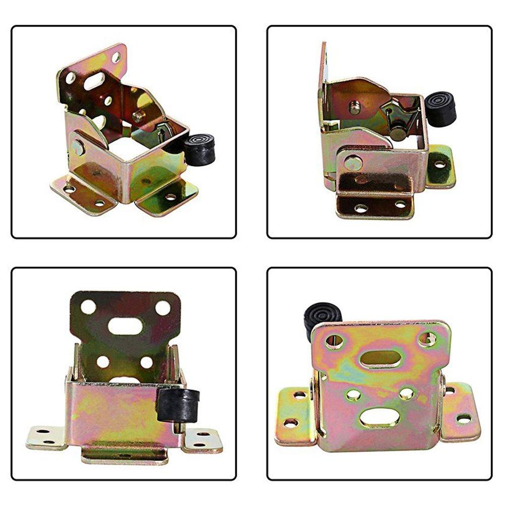 TopDirect 4PCS 75 x 60 x 55mm bisagras de hierro mesa patas de cama plegable de extensi/ón de bloqueo lateral freno soporte con tornillos