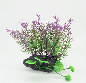 LMKIJN Bonita Plantas Artificiales del Ornamento de la Hierba del Acuario para el Paisaje del Acuario para la Decoración del hogar: Amazon.es: Hogar