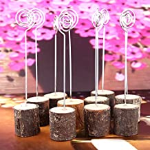 6pcs Wedding Card Holders Wooden Table Stand Menu Card Clip Holder for Wedding Party Decoration