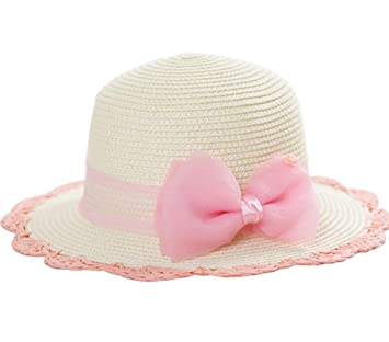 Amazon.com   Girls  Beach Straw Hat 9fc555afc05