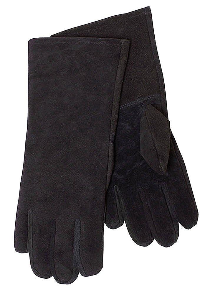 Gants gant de Cuir sauvage, noir - Gants de l'escrime Gants de chevalier GN médiéval - Noir, M Battle Merchant