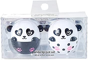 Justice Just Shine Panda Lip Pot Set