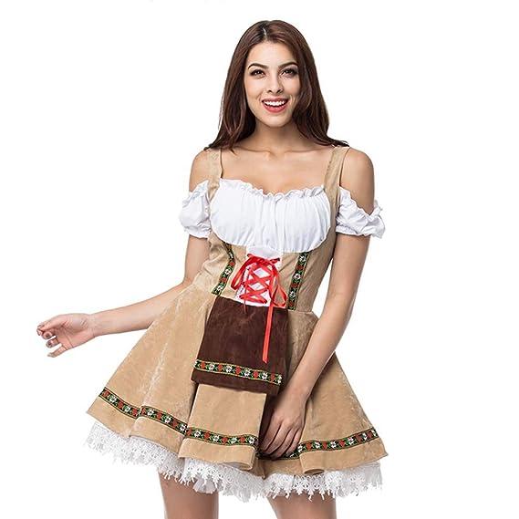 fagginakss Disfraz de Bávara Oktoberfest para Mujer Camarera ...