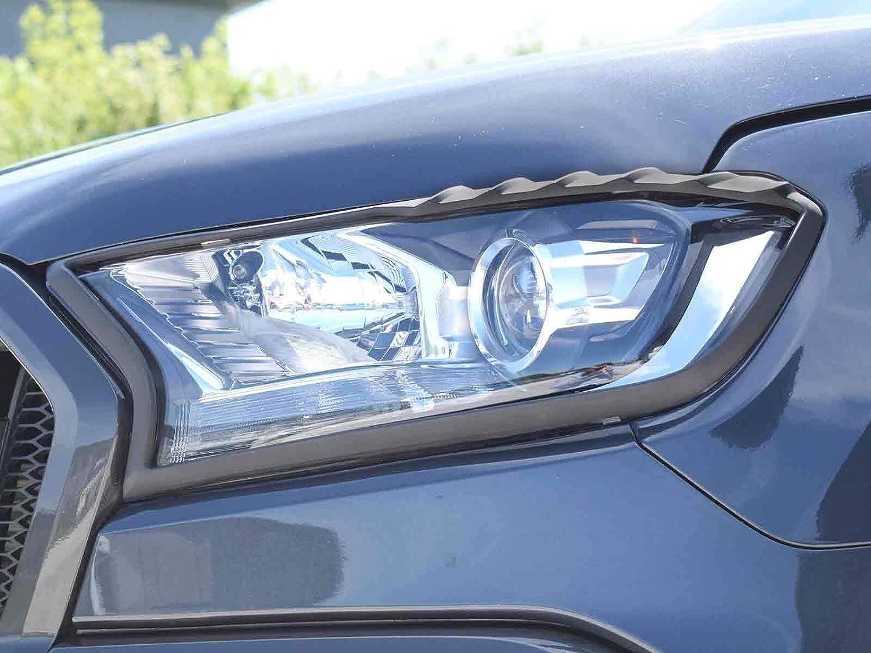 Demon 4x4 Satin Black Front Headlamp Light Cover Surrounds Trim Pair