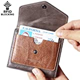 #6: Borgasets Women's RFID Blocking Small Compact Bifold Leather Pocket Wallet Ladies Mini Purse