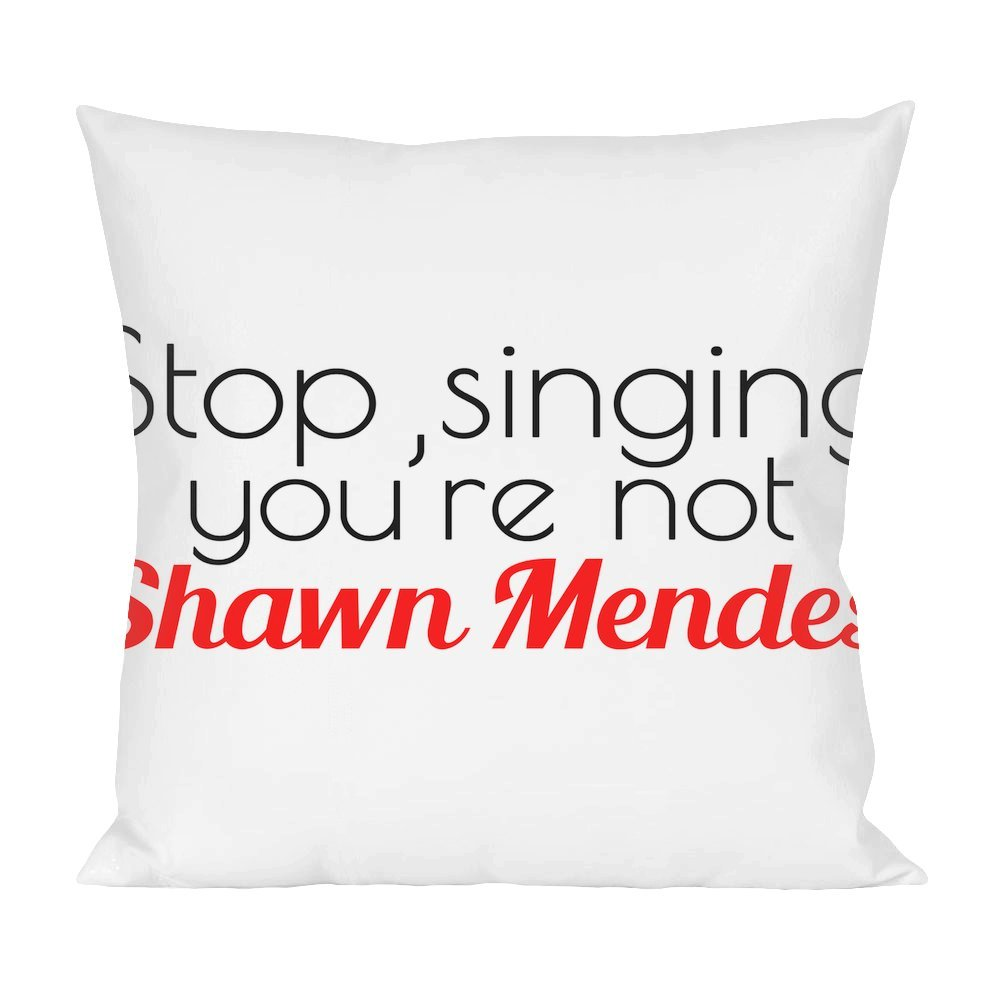 Stop Singing Youre Not Shawn Mendes Slogan Pillow Amazonde Küche