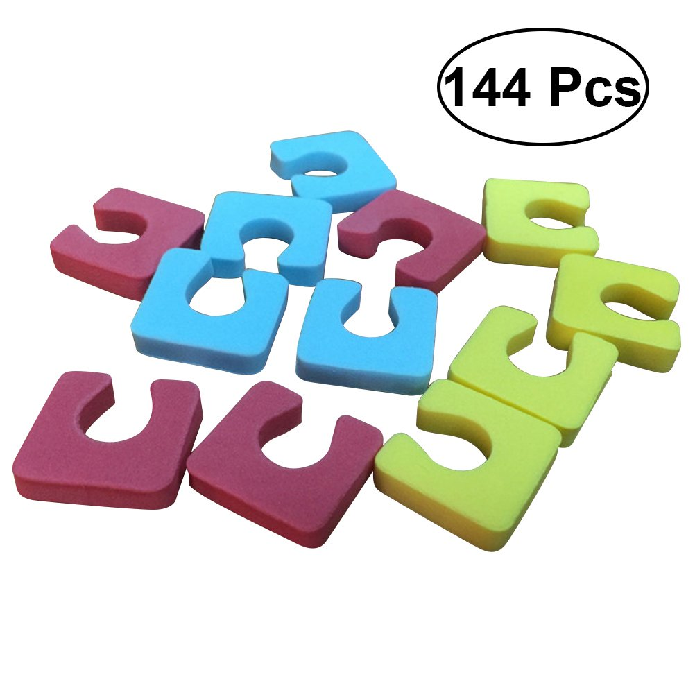 ROSENICE 144pcs Toe Separators Soft Foam Sponge Toe Toe Spacers for Manicure Nail Art (Random Color)