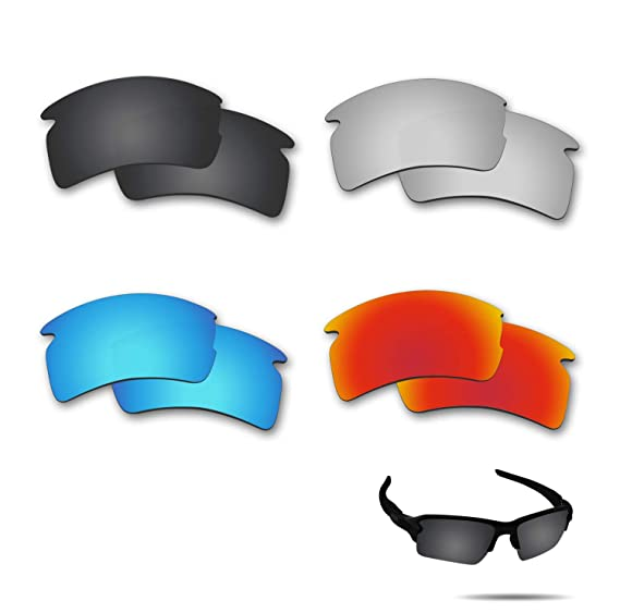 9d09ecfa98 Amazon.com  Fiskr Polarized Replacement Lenses for Oakley Flak 2.0 XL  Sunglasses 4 Pairs Pack  Clothing