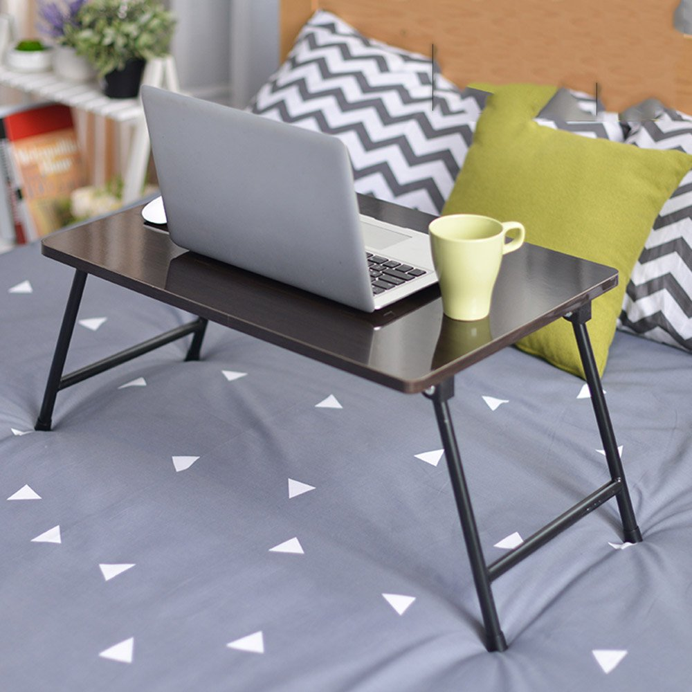 A ZZ Folding Table Folding Table Laptop Table Bed with Folding Study Table 8 colors Optional 60  40cm (color   G)