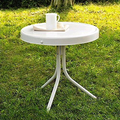Crosley Furniture Gracie Retro 20 inch Metal Outdoor Side Table   Alabaster  White. Home Trends Patio Furniture  Amazon com