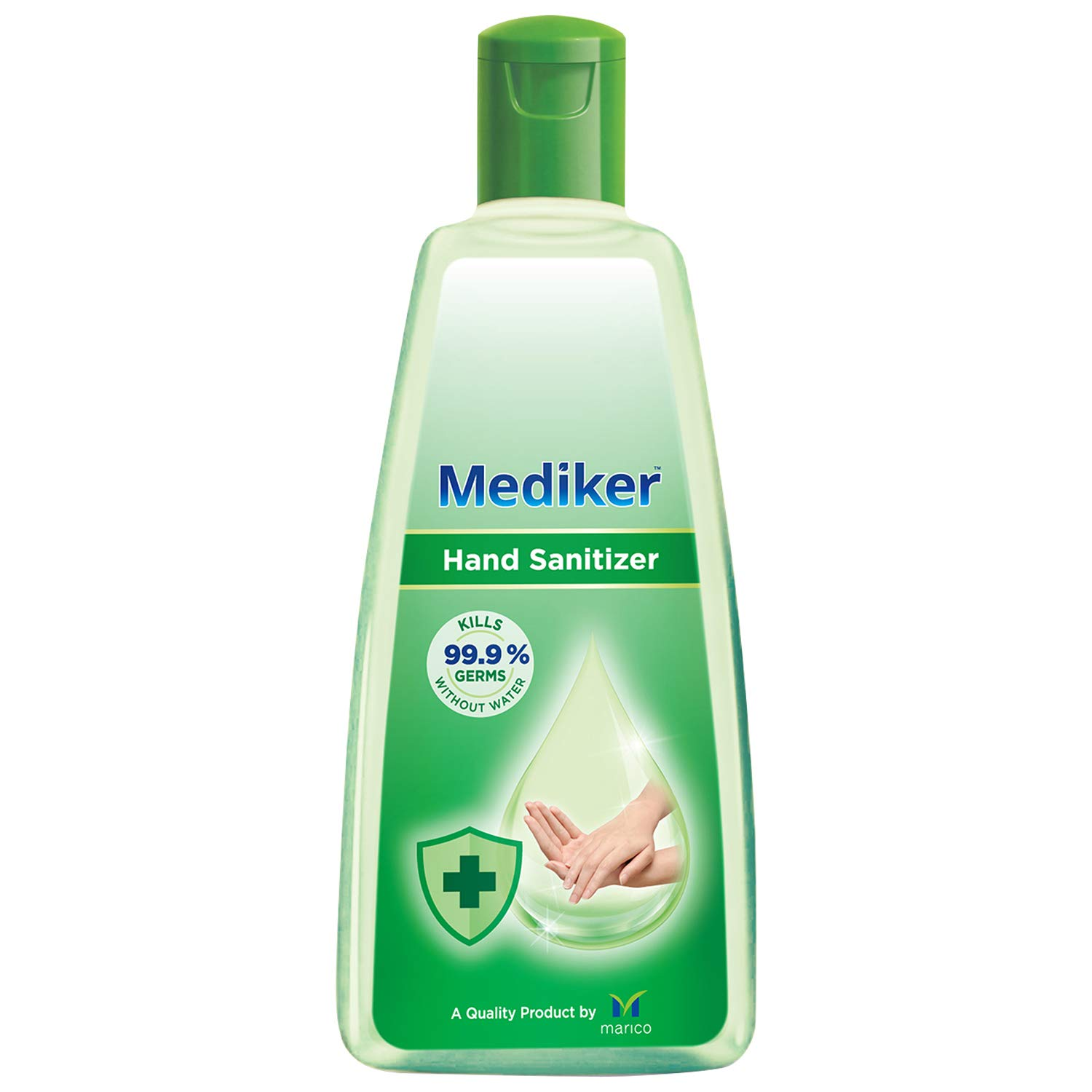 Mediker Hand Sanitizer,70 % Alcohol Based Sanitizer,Instantly Kills 99.9% Germs Without Water,Use Anytime, Anywhere,500 ml