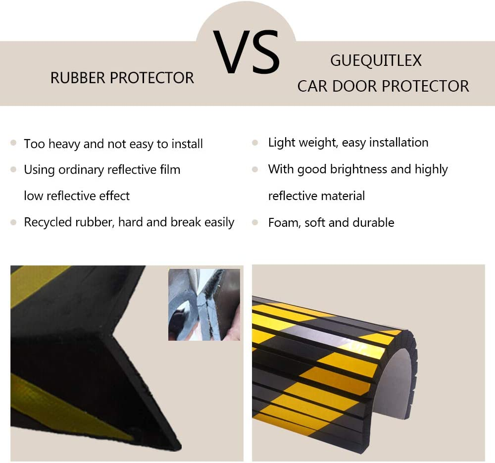 Column Guards, 2 Pack Red Wall Corner Edge and Bumpers Corner Guards Wall Edge Protector Protect Your Car Garage Wall Garage Wall Protector Foam Wall Corner Guard for Parking Garages