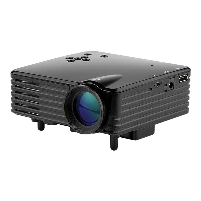 fastfox Mini LED proyector LCD 120 lúmenes Full HD Multimedia ...