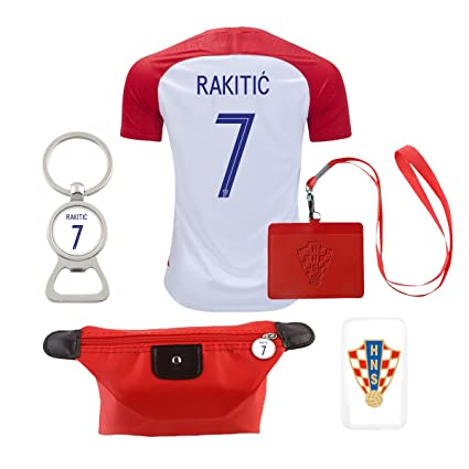 2ad56cdd8 Image Unavailable. Image not available for. Color  EE bestort Croatia  7  Rakitic 2018 Home Mens Soccer Jersey ...
