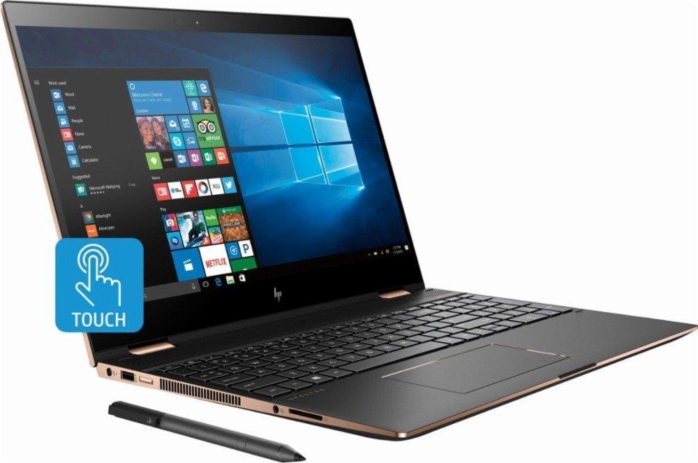 HP Spectre x360 15t Touch 4K UHD,i7-8705G 3.1GHz,Radeon 4GB RX Vega M,NumPad,HP Stylus,512GB SSD,16GB RAM,Win 10 Pro Pre-Installed by HP, 3 YRS McAfee Internet Security,B&O Speakers, HP Premium Wty,