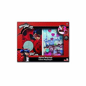 Simba-9413097 Prodigiosa Ladybug por un Lado Maquillaje por Otro Agenda (9413097)