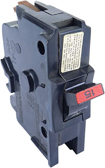 15 AMP 1 POLE CIRCUIT BREAKER THIN 120//240 VAC~USED FEDERAL PACIFIC ELECTRIC CO