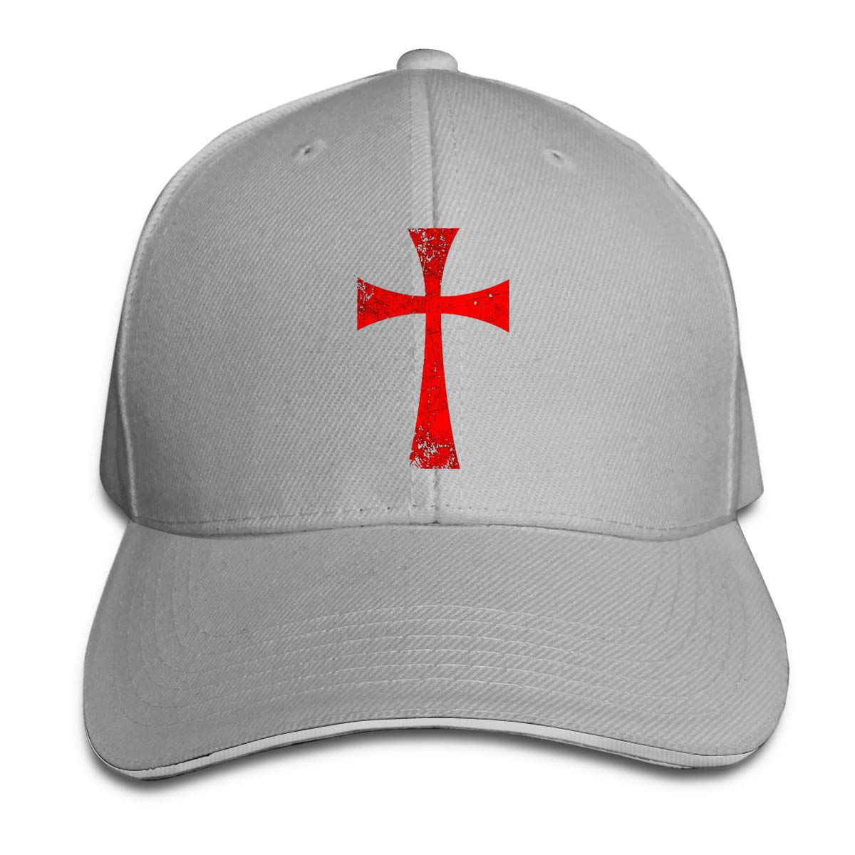 Knights Templar Crusader Cross1 Unisex Adult Baseball Caps Adjustable Sandwich Caps Jeans Caps Adjustable Denim Trucker Cap