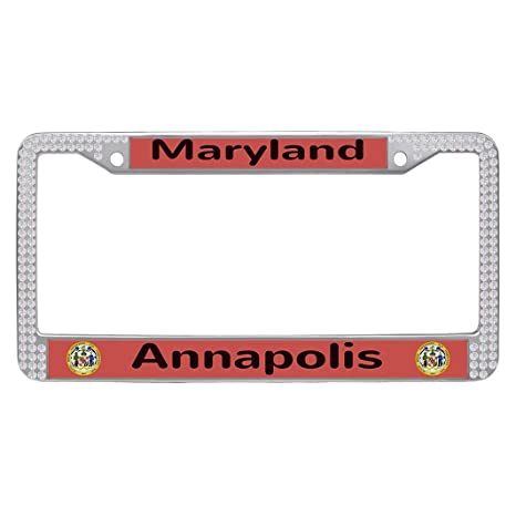 Amazon.com: Dongsmer Annapolis Bling Cool Auto License Plate Frame ...