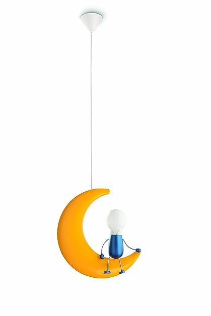 philips lunardo lampada a sospensione bambino, luna con omino ... - Lampade Bambini Philips