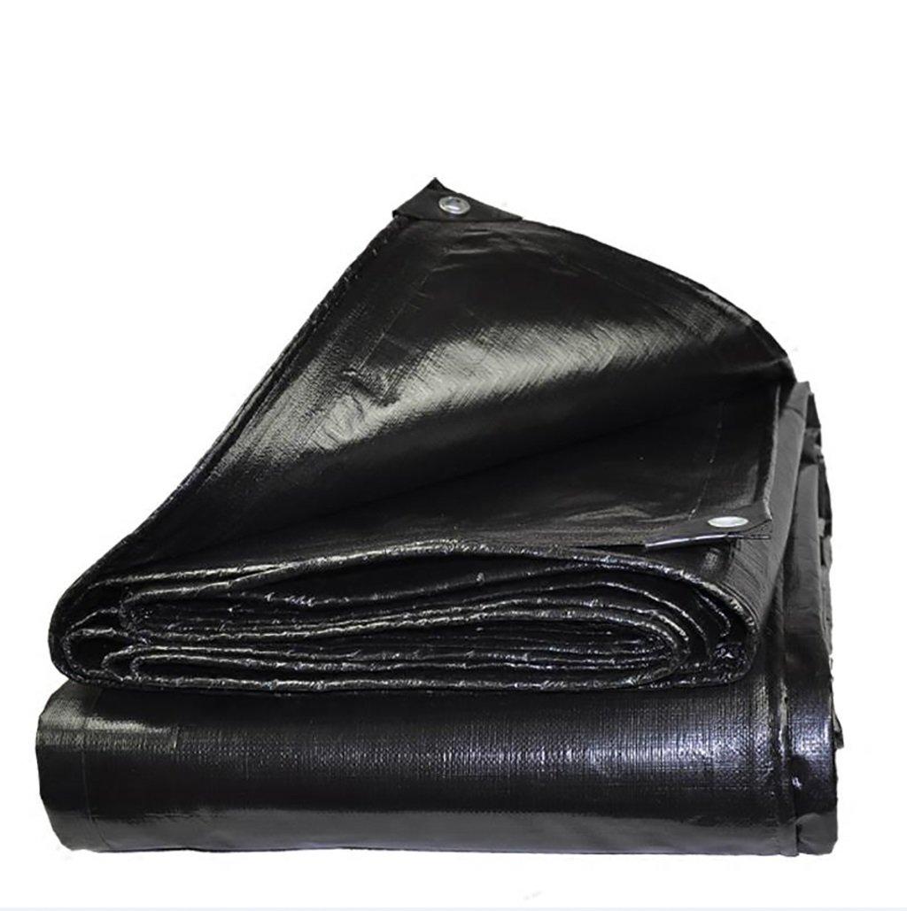 QRFDIAN Telone Nero Imbottito Telone Impermeabile Olio Telo Tenda in Tessuto plastico (Dimensioni   5M6M)
