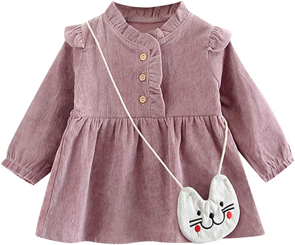 Baby Girl Clothes 0-2 Years Toddler Kids Baby Girls Dress Casual Long Sleeve Floral Princess Tulle Tutu Dress Fashion Popular Party Outfits Houystory
