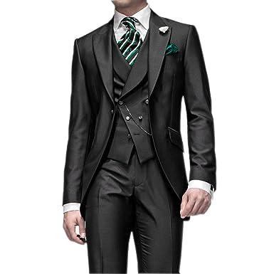 HZWL Groom Tuxedos Groomsmen Best Man Suit Wedding Groomsman/Men ...