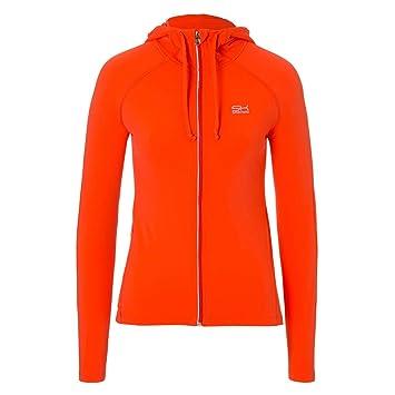d765197a90179 SPORTKIND Veste à Capuche de Tennis/Fitness/Jogging pour Filles & Femmes,  Orange