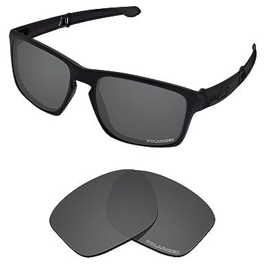 7dd61da84de Tintart Performance Lenses Compatible with Oakley Sliver F Polarized  Etched-Carbon Black