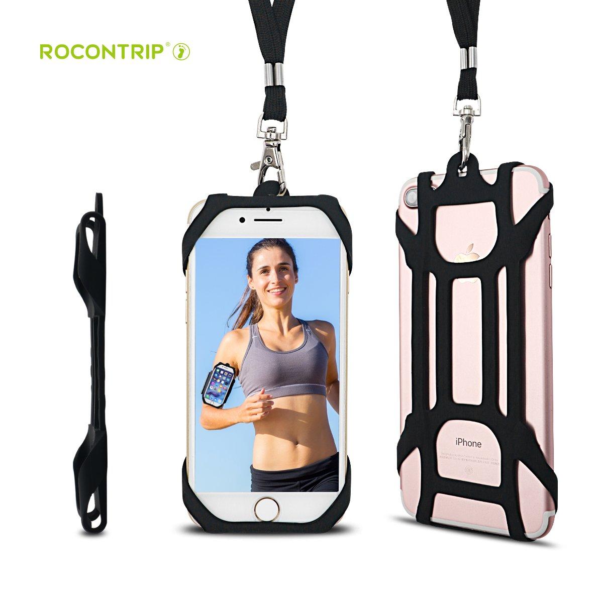 ROCONTRIP 2en 1téléphone Portable Lanière Coque avec Support Amovible Neckstrap Universel pour Smartphone iPhone 8,76S iPhone 6S Plus, Google Pixel LG HTC Huawei P104.7–14cm UK-T16109