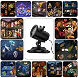 Holiday Light Projector, Birthday Party Outdoor Garden House Apartment Kids Room Night Light Night Decoration, 20 Slides Waterproof!!! Outdoor Indoor Landscape Motion LED Projector(10W)