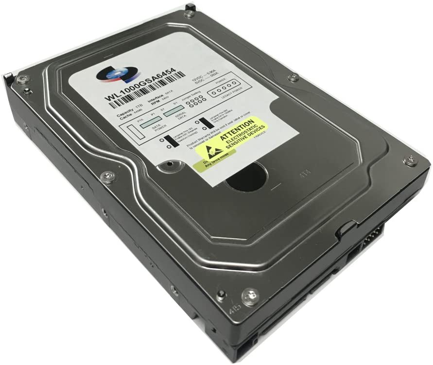 "WL 1TB 64MB Cache 5400RPM SATA III (6.0Gb/s) (Low Power & Heavy Duty) 3.5"" Internal Hard Drive (PC, NAS & CCTV DVR) - w/ 1 Year Warranty"