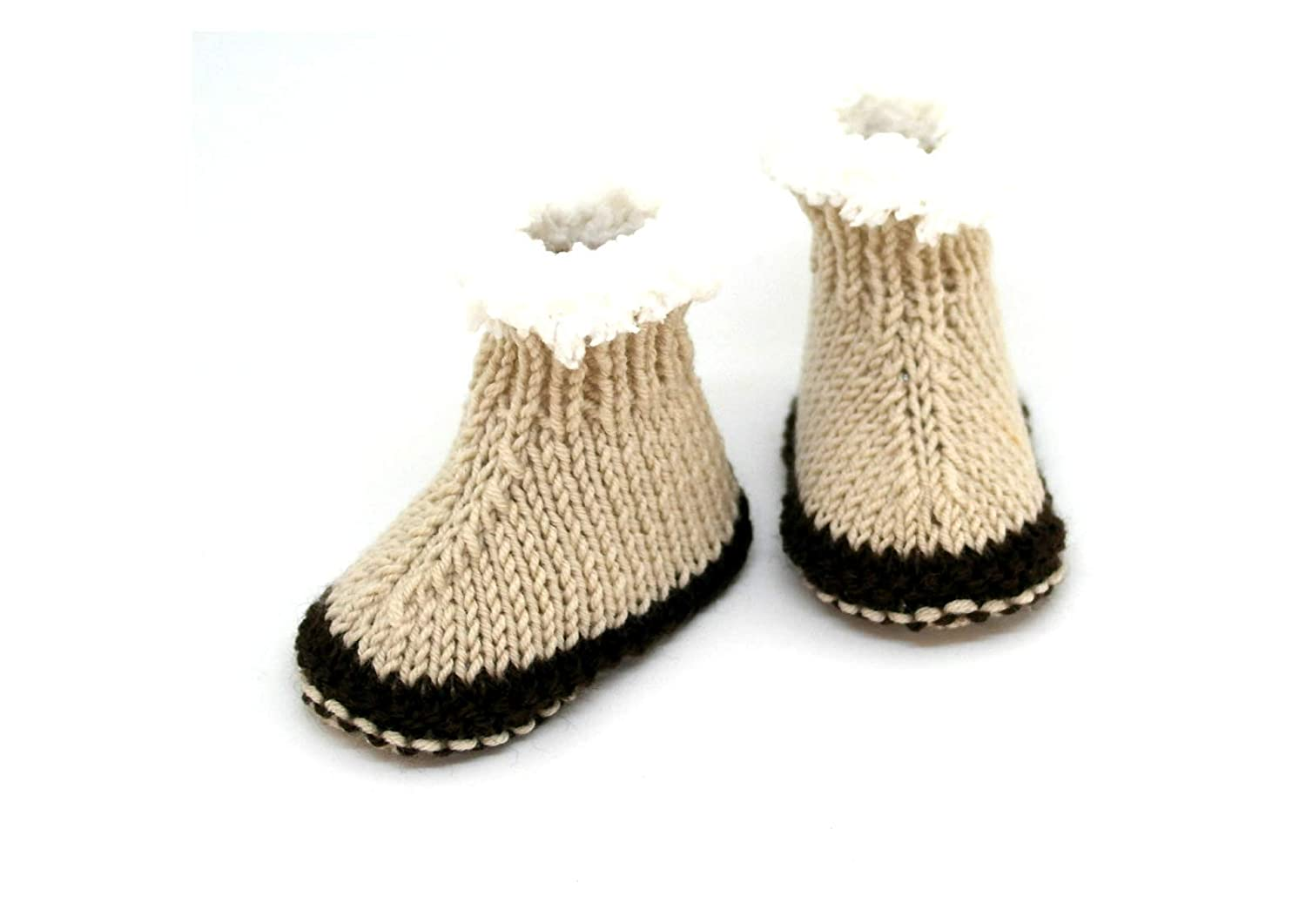103e839339e Hand knitted baby booties, Baby boy booties, Baby ugg style booties ...
