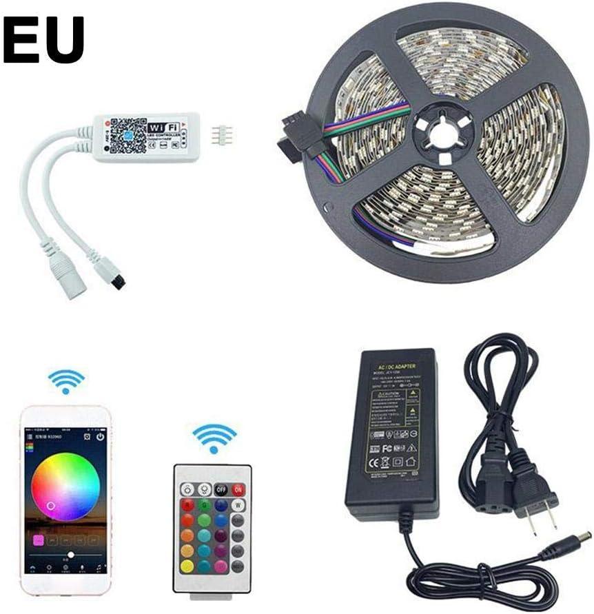 Fancylande - Tira de Luces LED 5050 con WiFi, Resistente al Agua, Mando a Distancia por Infrarrojos y Fuente de alimentación: Amazon.es: Hogar