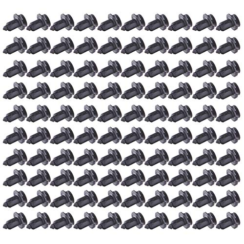 Fender Clips Car Door Push-Type Bumper Trim Fasteners Rivets Set 8mm(0.4inch),100Pack