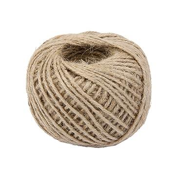 50m rollo de cuerda cable hilo de camo artesanal decoracin para hogar color natural